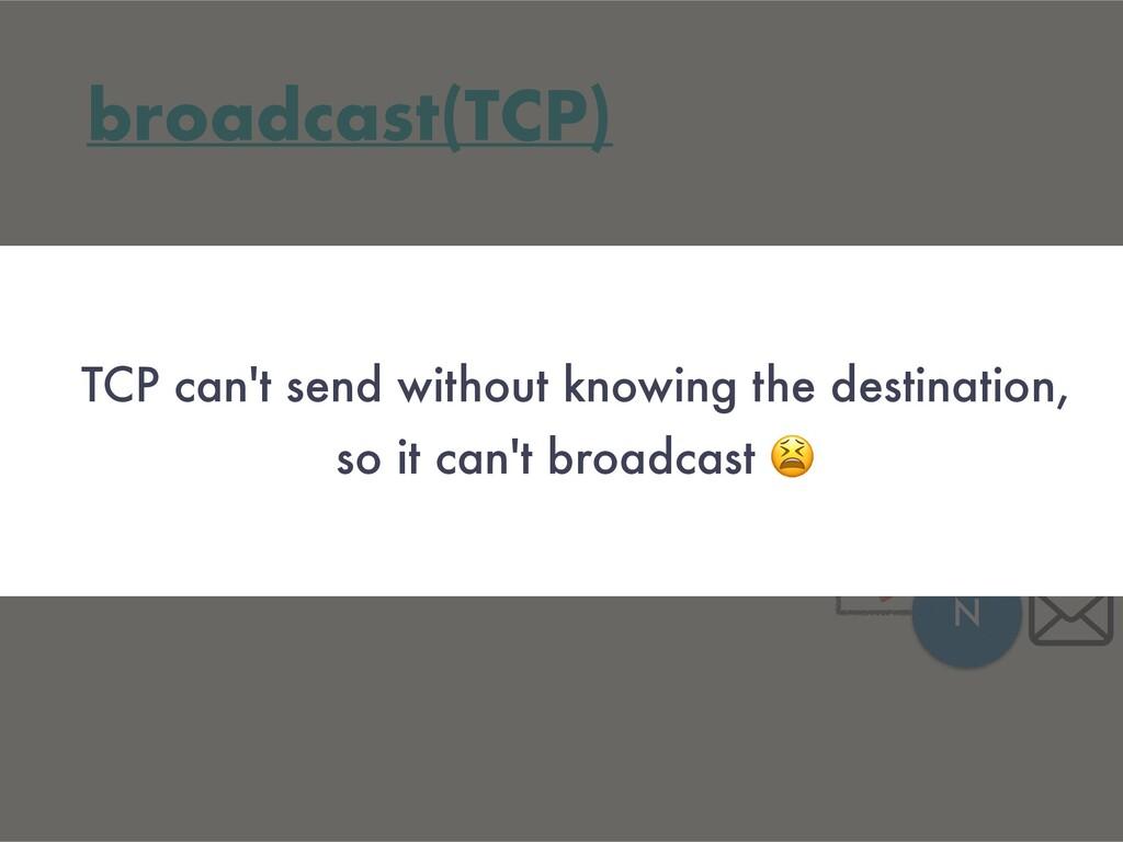 broadcast(TCP) A N N N segment for each destina...