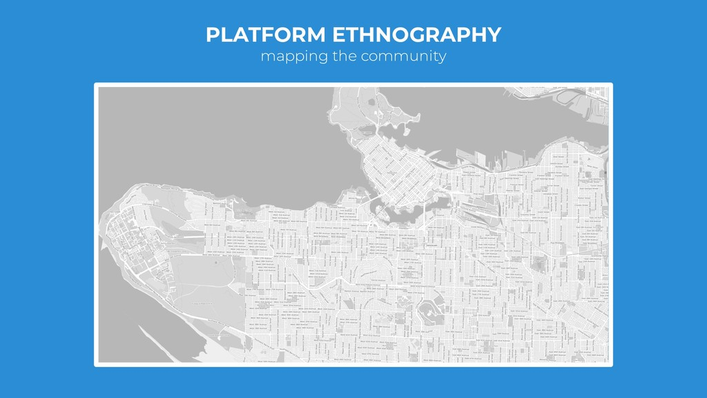 PLATFORM ETHNOGRAPHY mapping the community