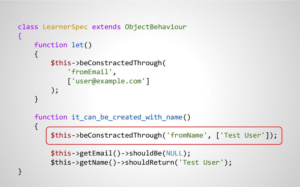 class LearnerSpec extends ObjectBehaviour { fun...