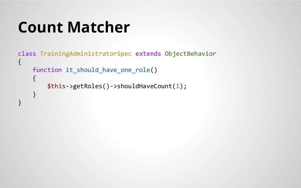 Count Matcher class TrainingAdministratorSpec e...