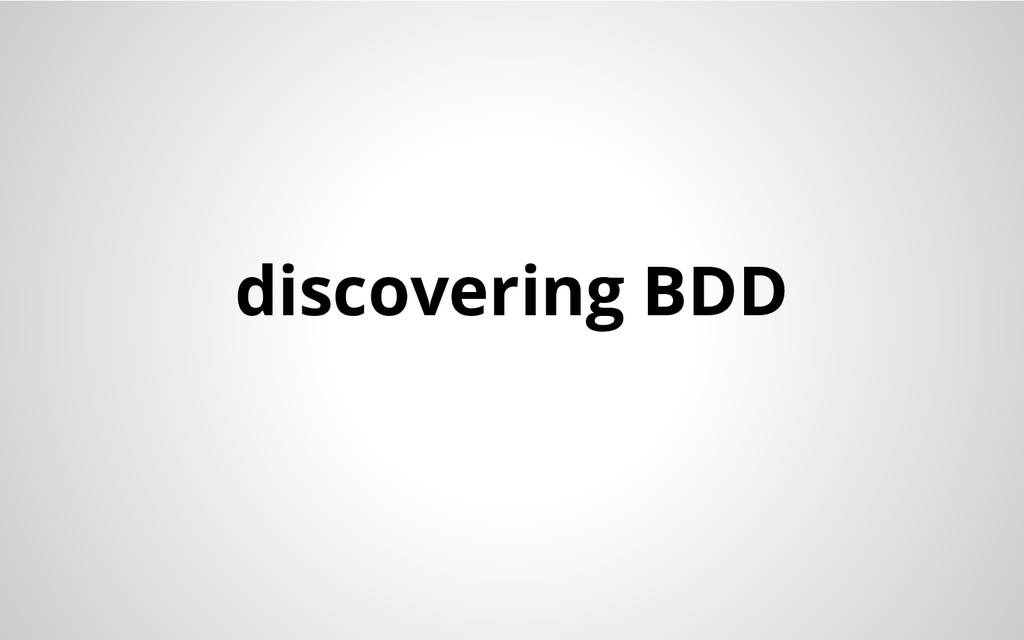 discovering BDD