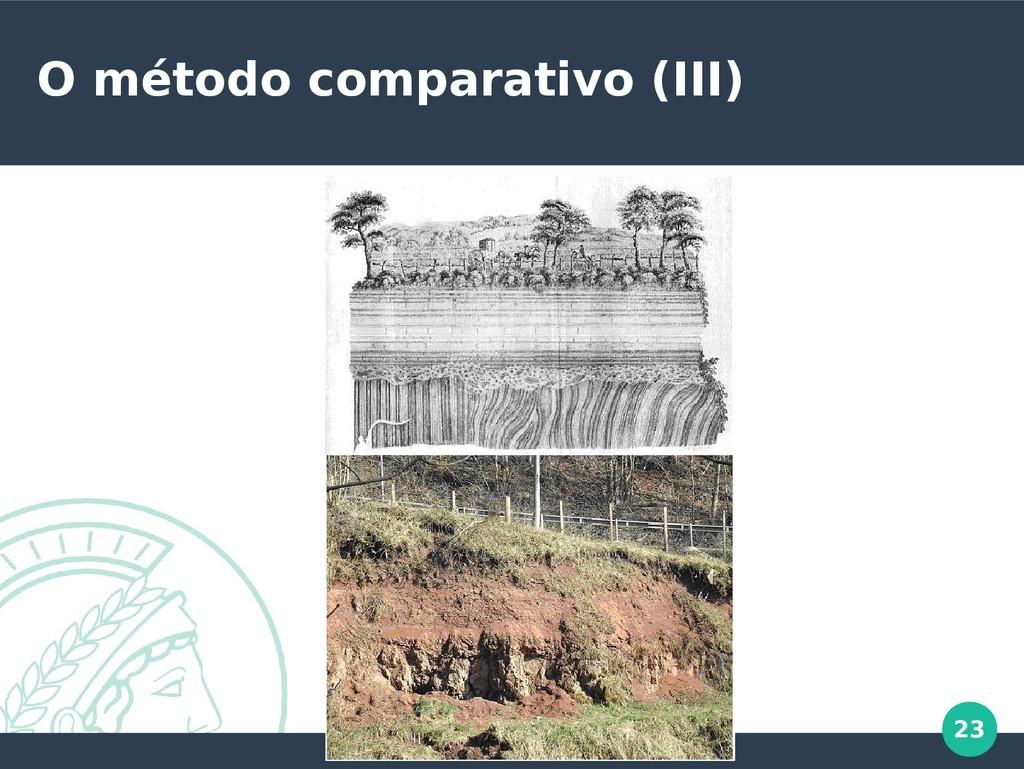 23 O método comparativo (III)