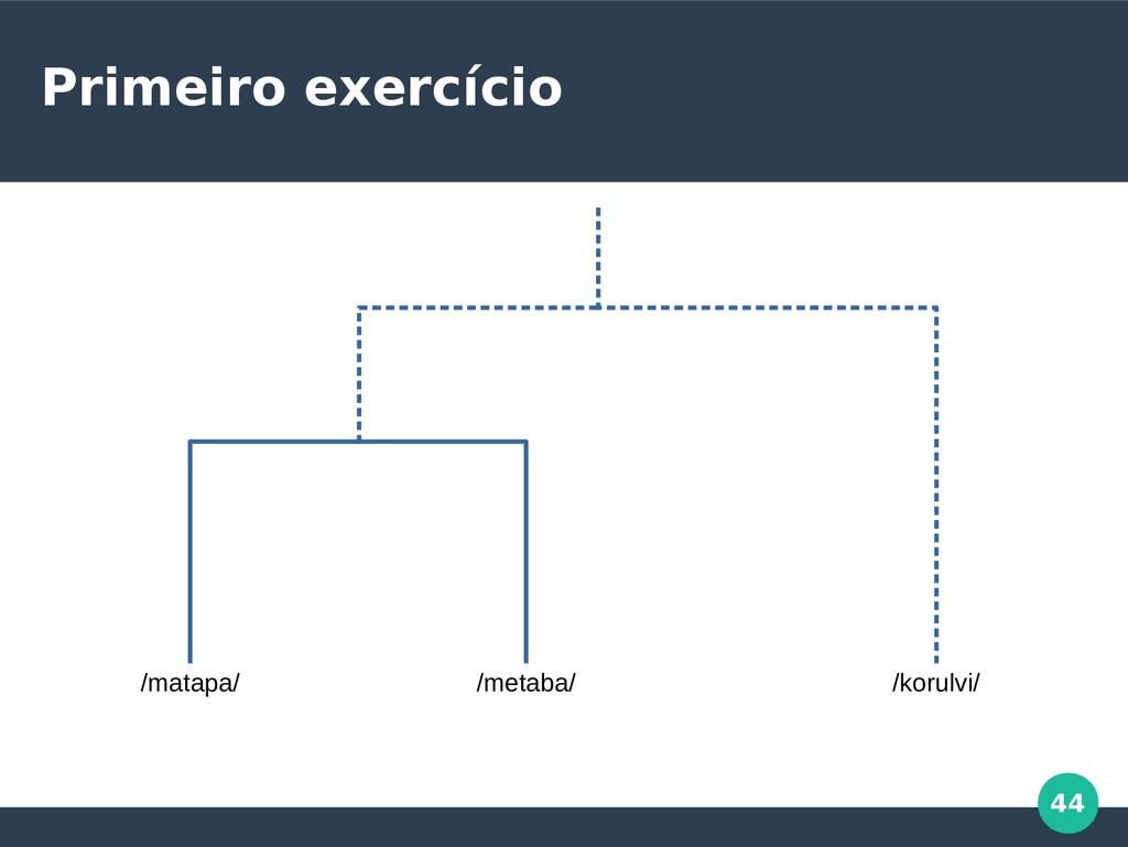44 Primeiro exercício /matapa/ /metaba/ /korulv...