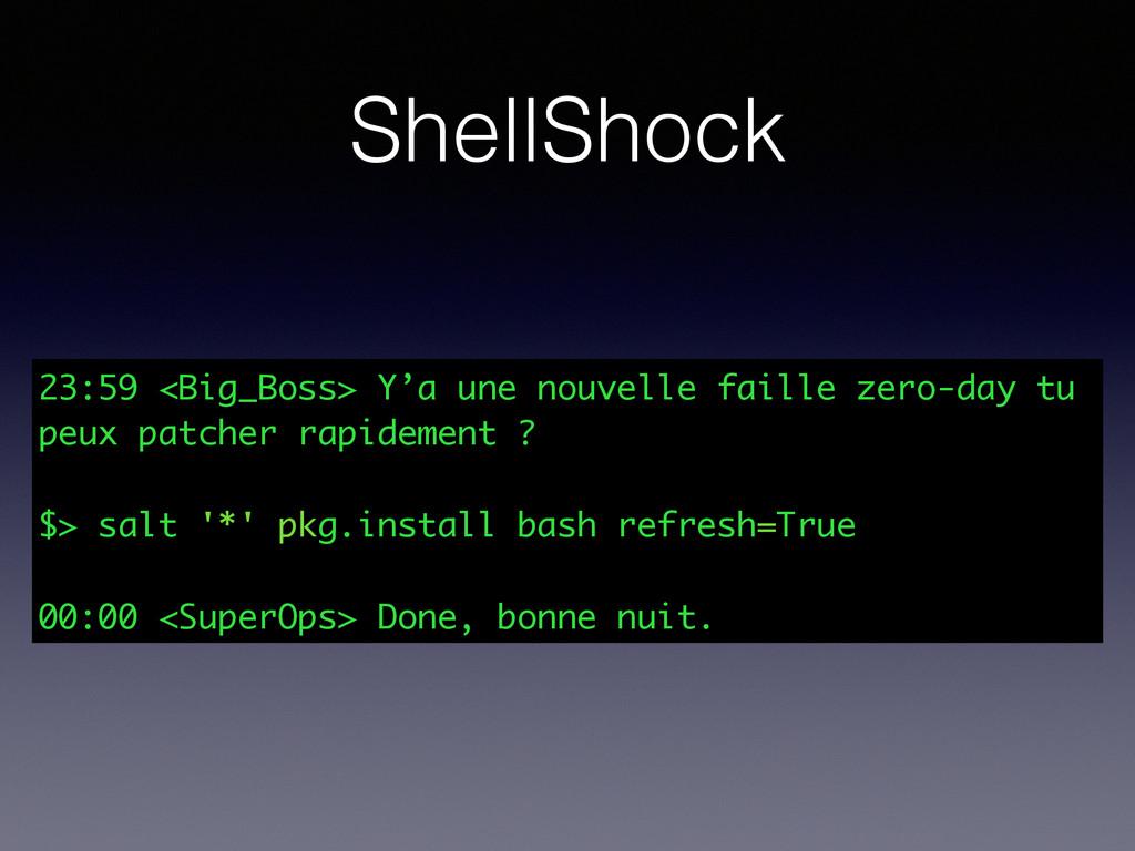 ShellShock 23:59 <Big_Boss> Y'a une nouvelle fa...
