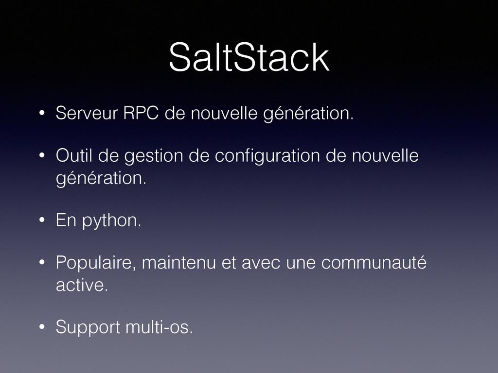 SaltStack • Serveur RPC de nouvelle génération....