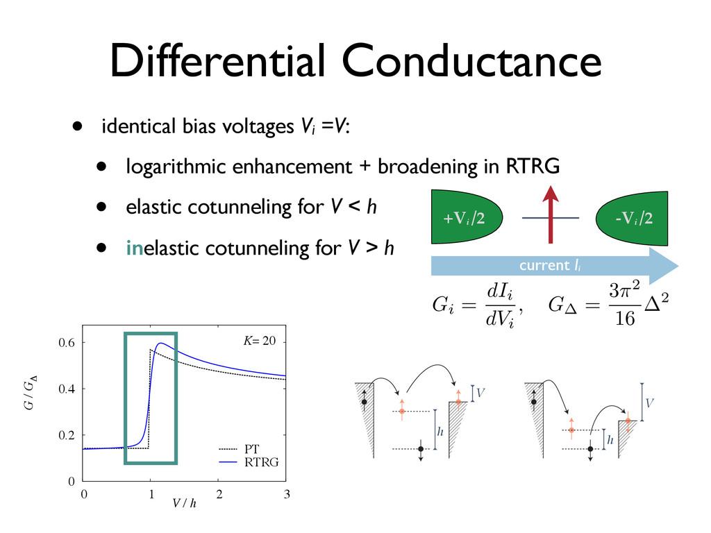 • identical bias voltages Vi =V: • logarithmic ...