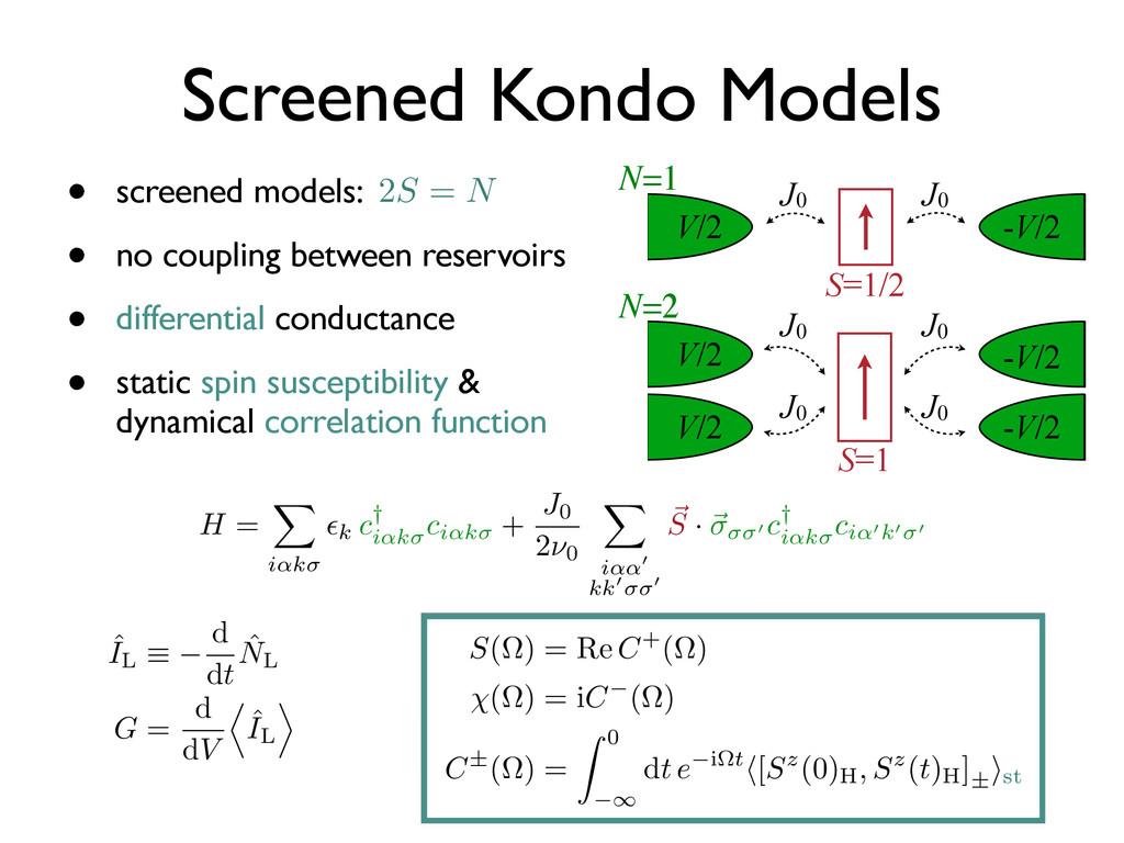 • screened models: • no coupling between reserv...