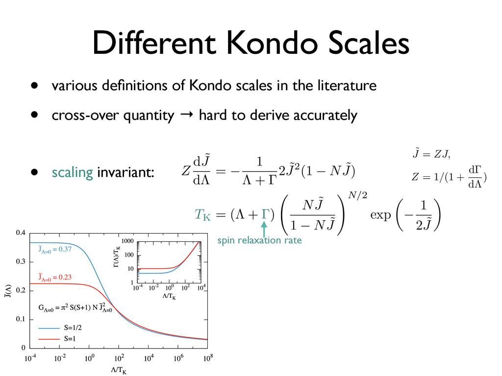 Different Kondo Scales • scaling invariant: • v...