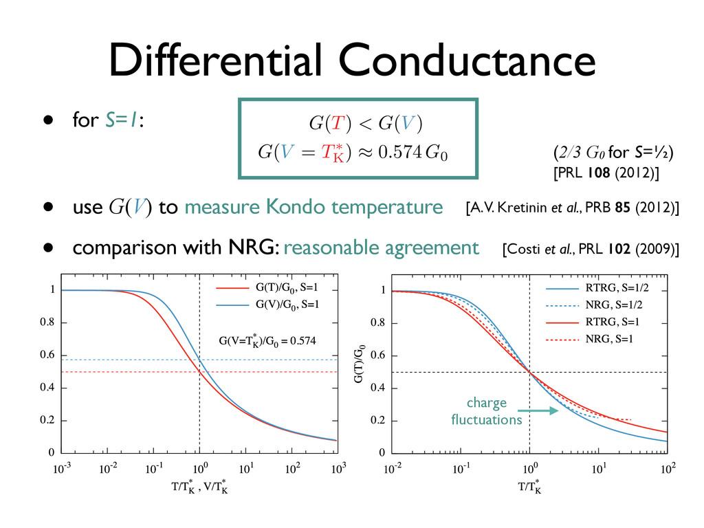 • for S=1: • use G(V) to measure Kondo temperat...