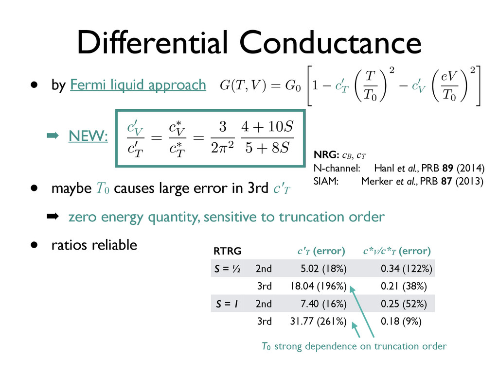 • maybe T0 causes large error in 3rd c'T ➡ zero...