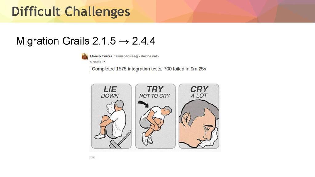 Difficult Challenges Migration Grails 2.1.5 → 2...