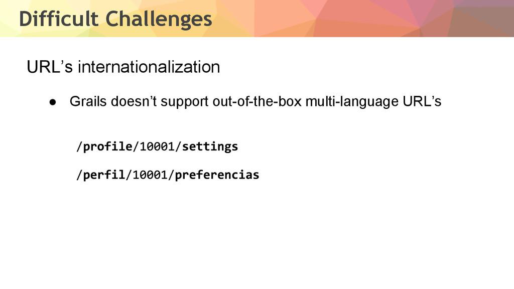 Difficult Challenges URL's internationalization...
