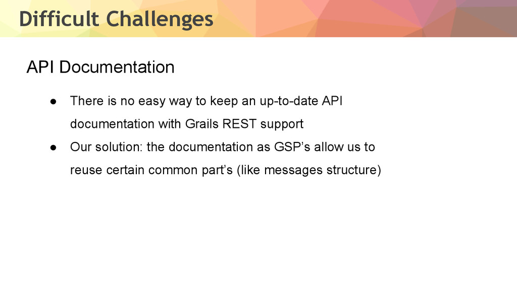 Difficult Challenges API Documentation ● There ...