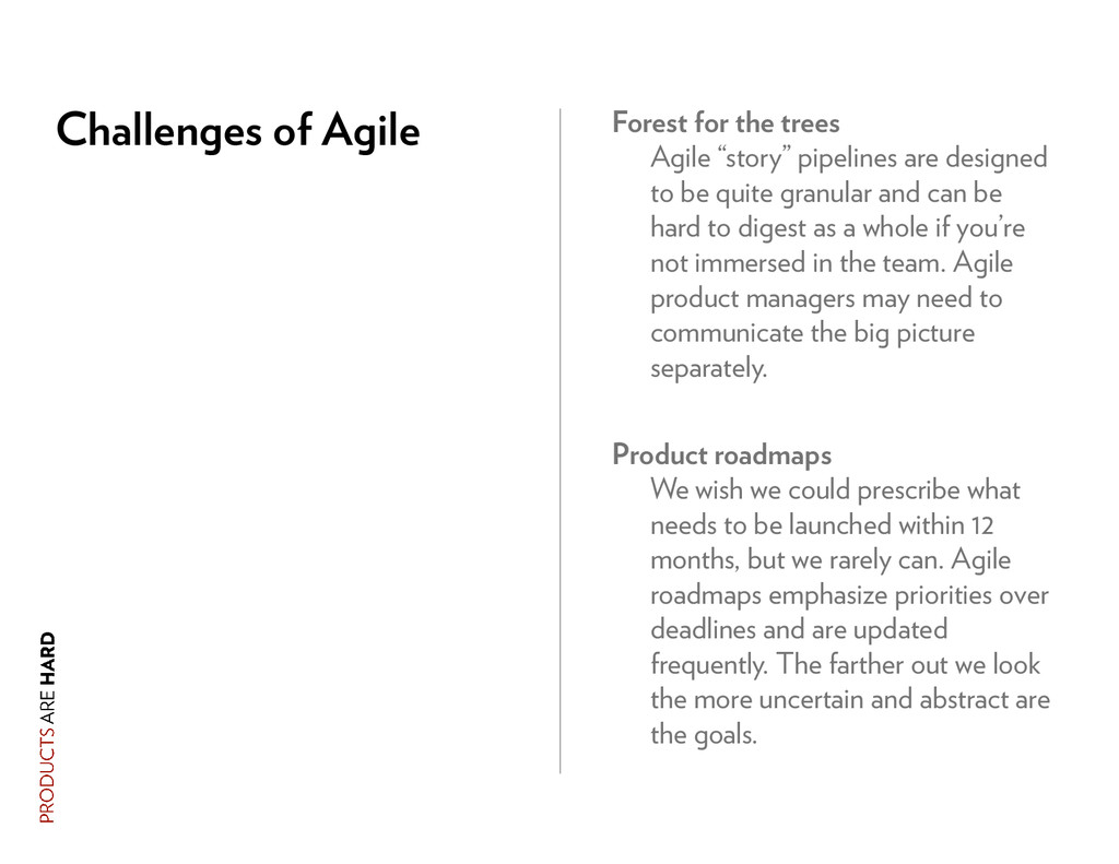 Challenges of Agile Forest for the trees Agile ...