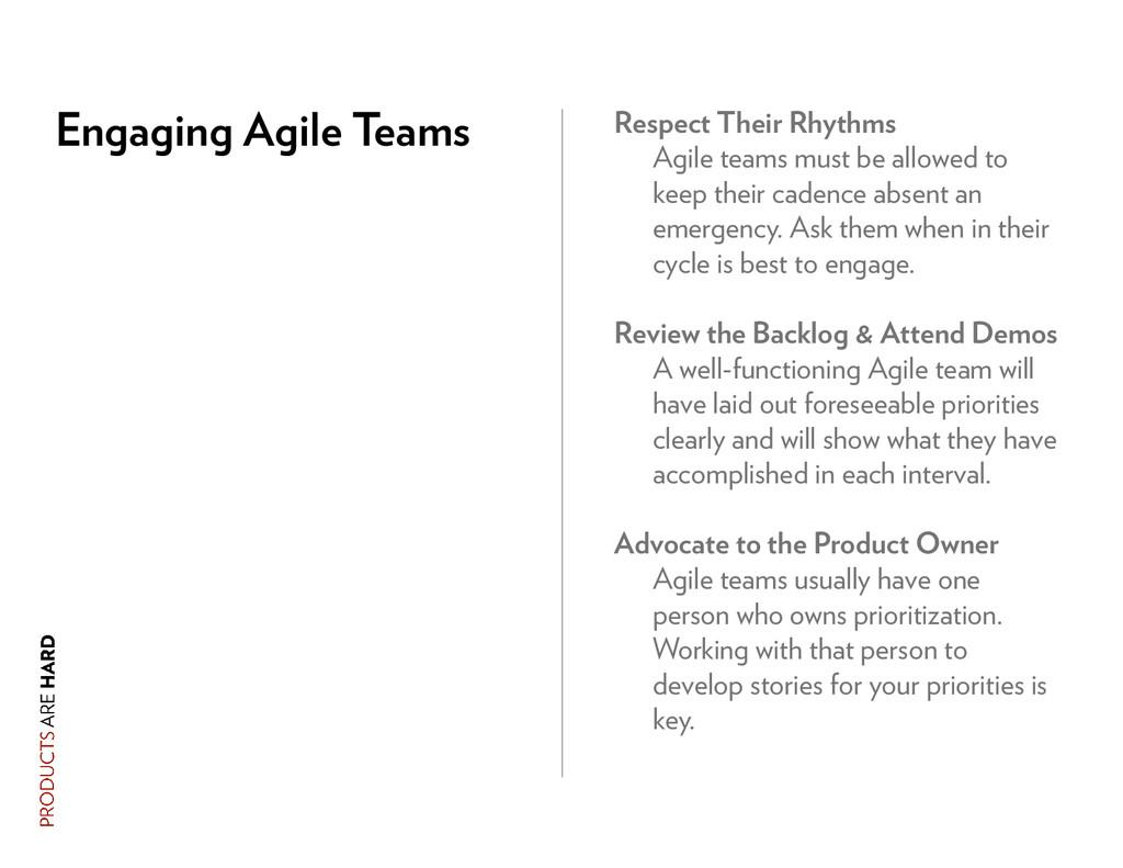 Engaging Agile Teams Respect Their Rhythms Agil...
