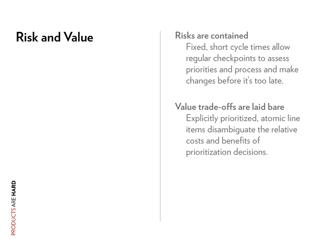 Risk and Value Risks are contained Fixed, short...