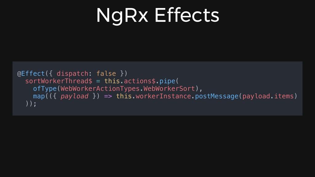 NgRx Effects @Effect({ dispatch: false }) sortW...
