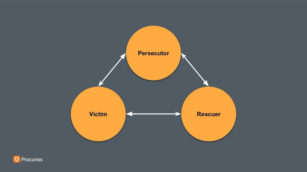 Persecutor Victim Rescuer