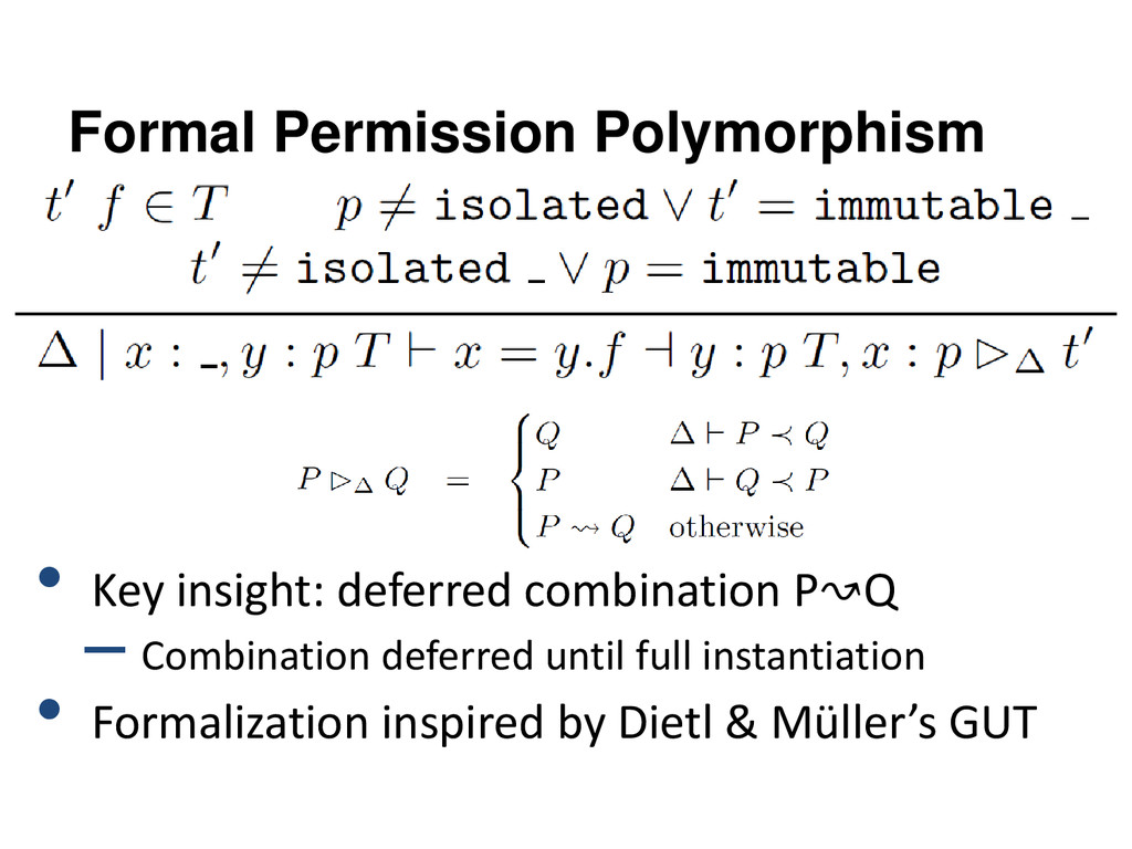 Formal Permission Polymorphism • Key insight: d...