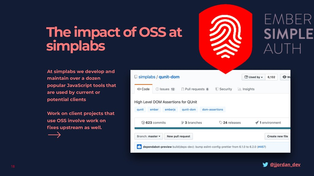 18 The impact of OSS at simplabs At simplabs we...