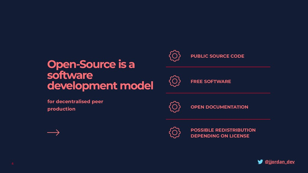 4 Open-Source is a software development model f...