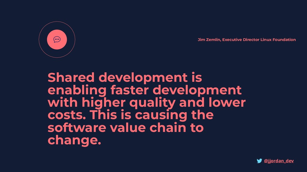Shared development is enabling faster developme...