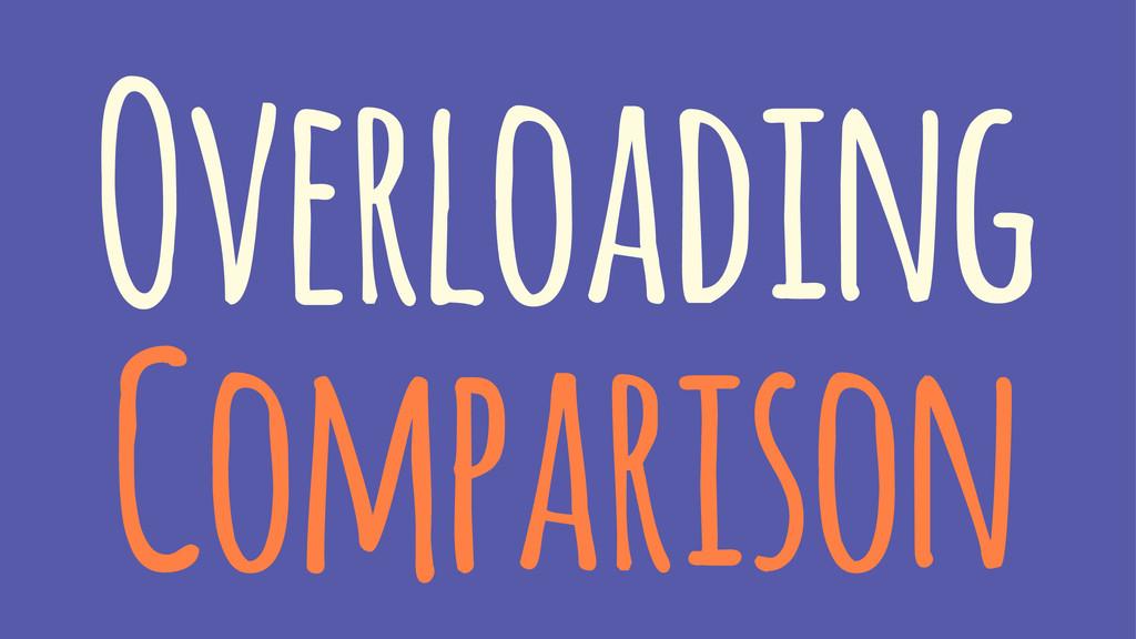 Overloading Comparison
