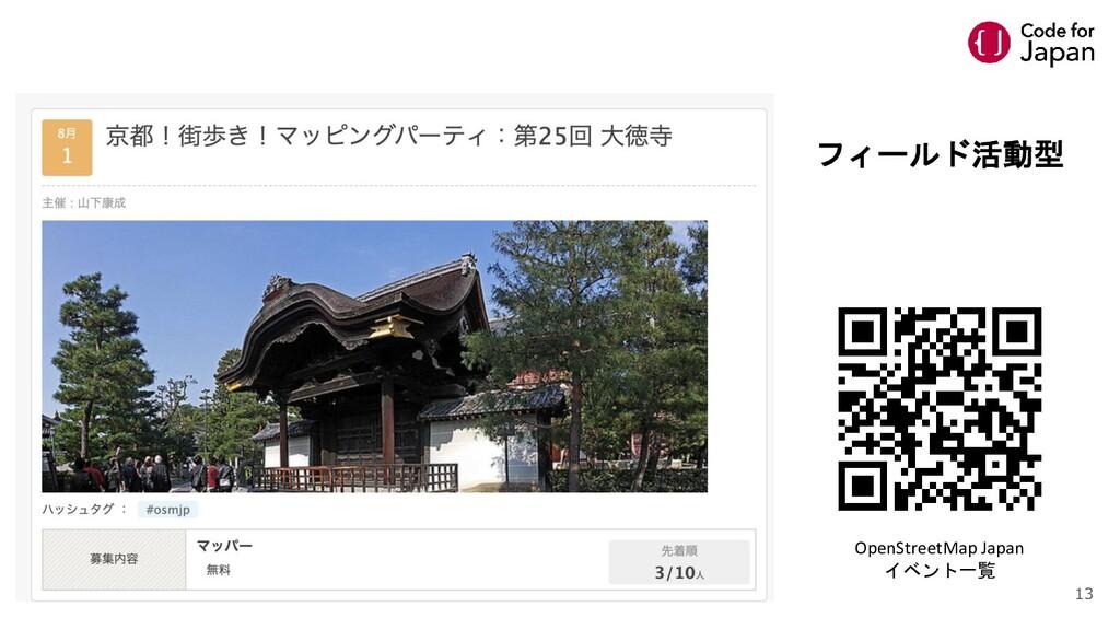 フィールド活動型 OpenStreetMap Japan イベント一覧 13