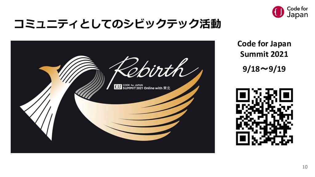 コミュニティとしてのシビックテック活動 Code for Japan Summit 2021 ...
