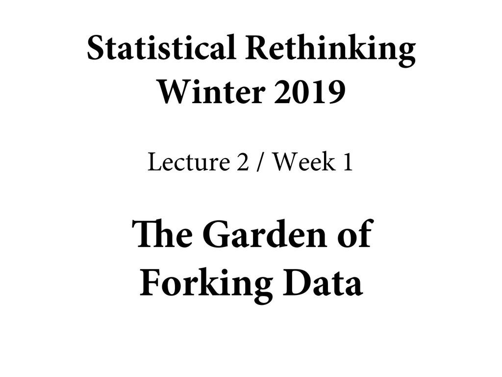 The Garden of Forking Data Statistical Rethinki...
