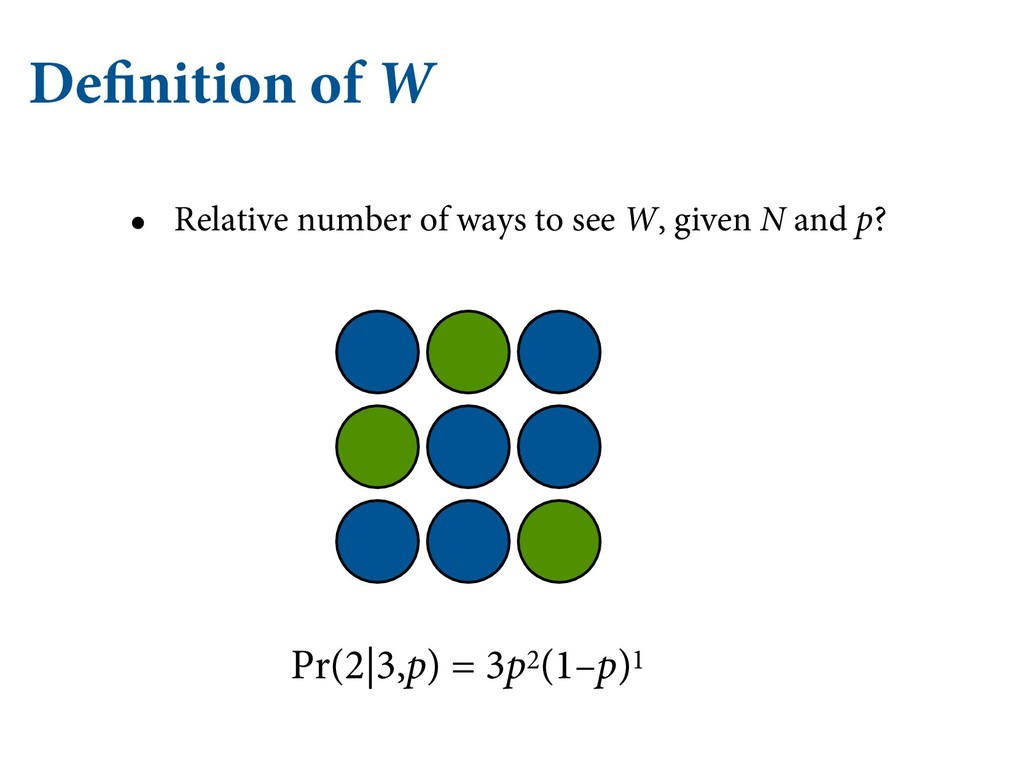 Definition of W • Relative number of ways to se...