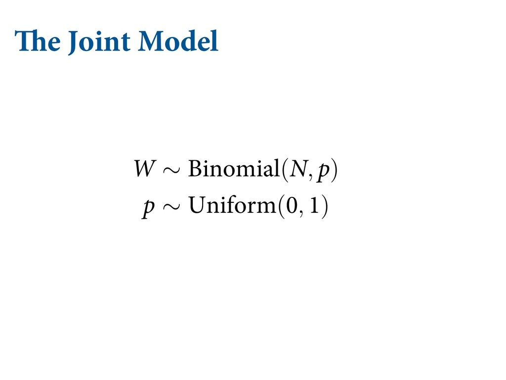 The Joint Model α α ρσβ σβ σ α ρσα σβ ρσα σβ σ...
