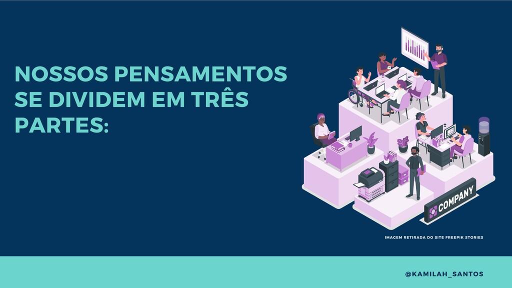 NOSSOS PENSAMENTOS SE DIVIDEM EM TRÊS PARTES: @...