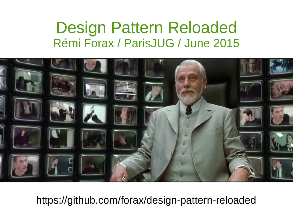 Design Pattern Reloaded Design Pattern Reloaded...