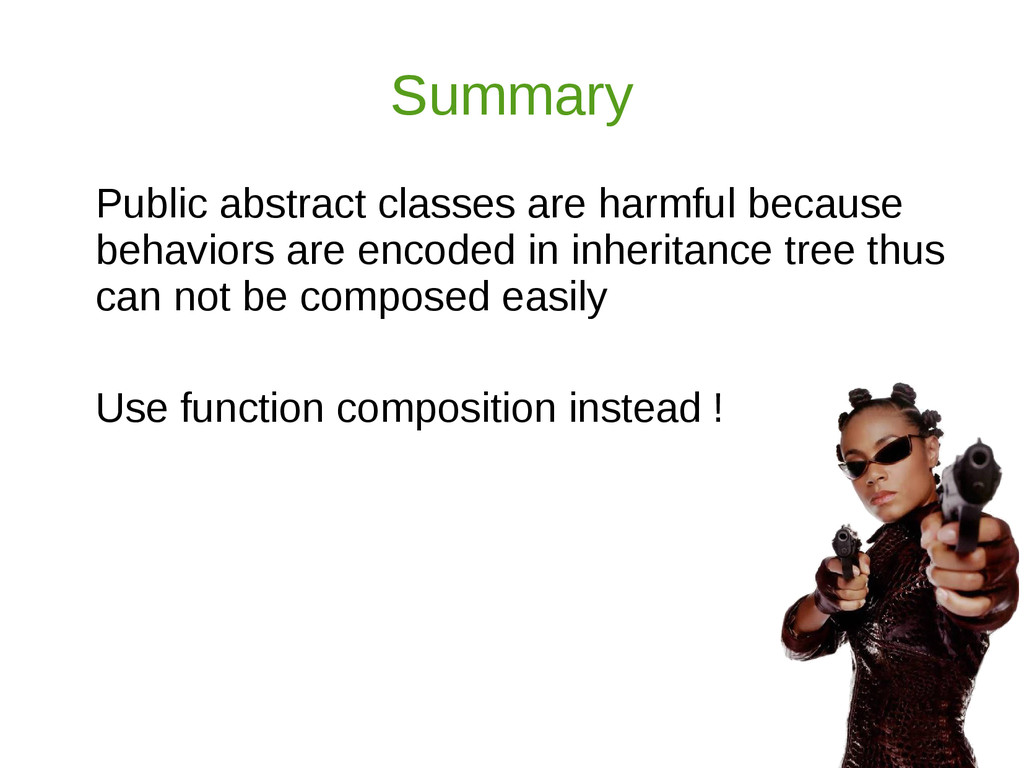 Summary Public abstract classes are harmful bec...
