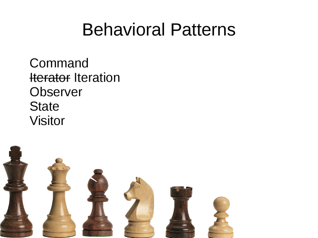 Behavioral Patterns Command Iterator Iteration ...