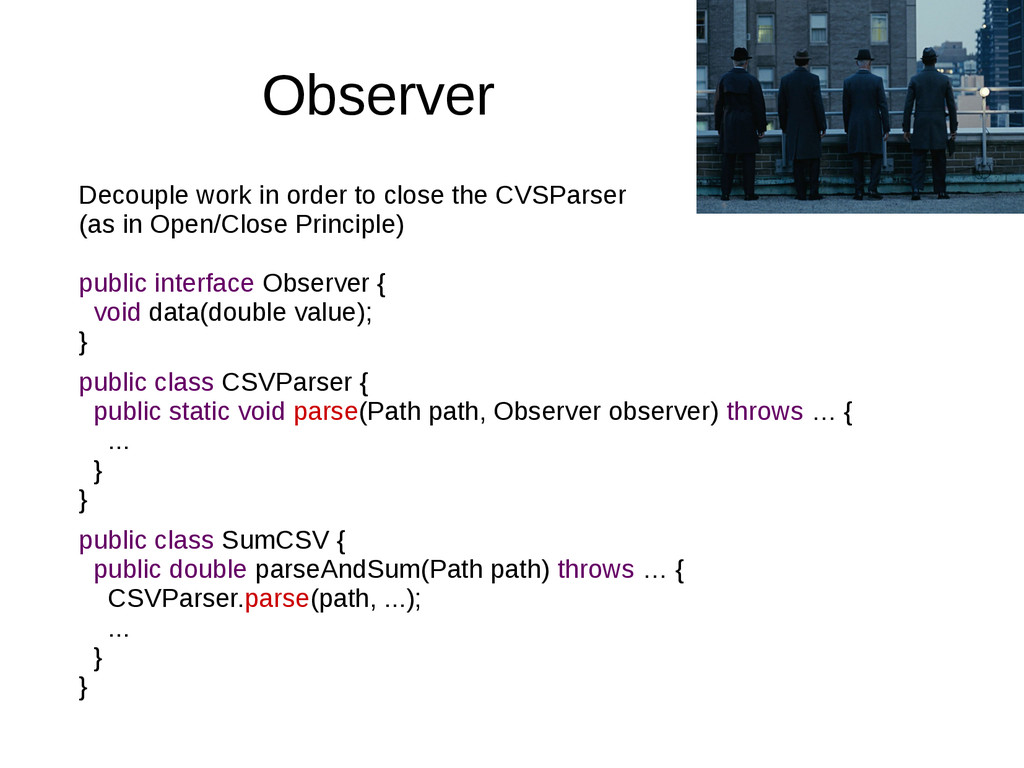 Observer Decouple work in order to close the CV...