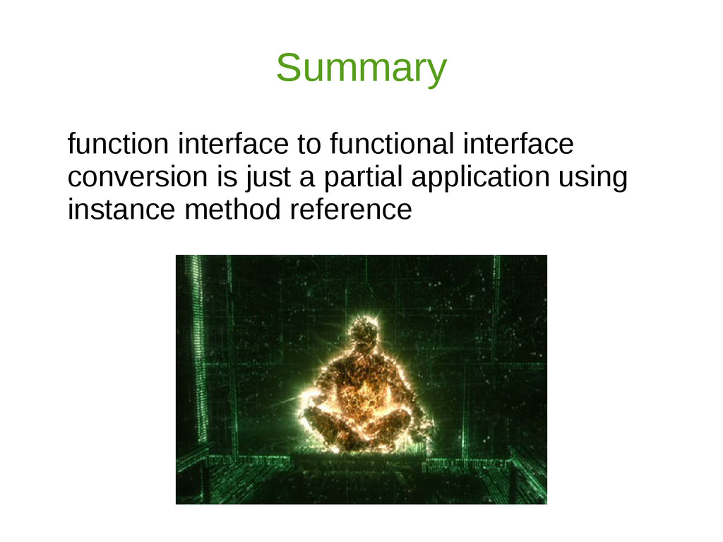 Summary function interface to functional interf...