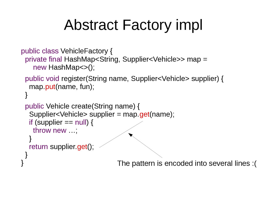 Abstract Factory impl public class VehicleFacto...