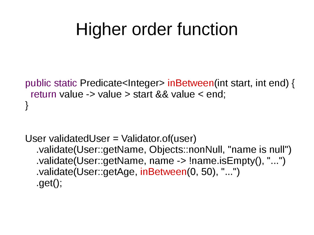 Higher order function public static Predicate<I...