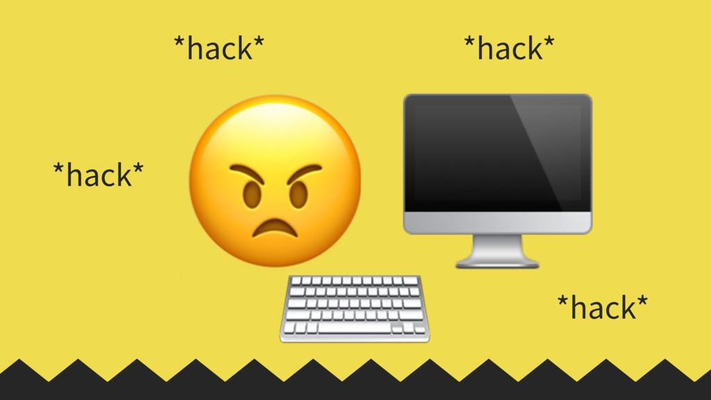 ⌨   *hack* *hack* *hack* *hack*