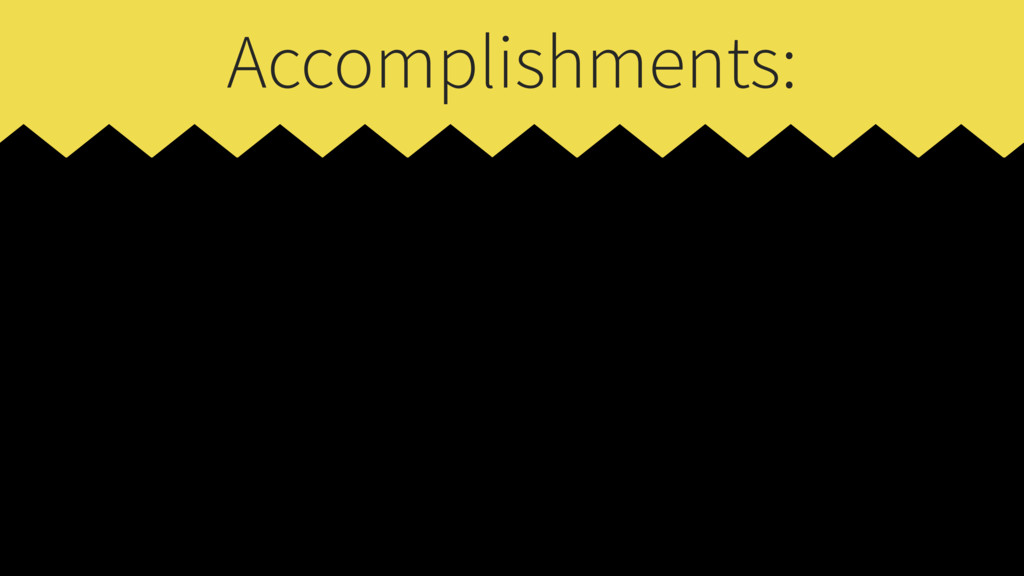 Accomplishments: