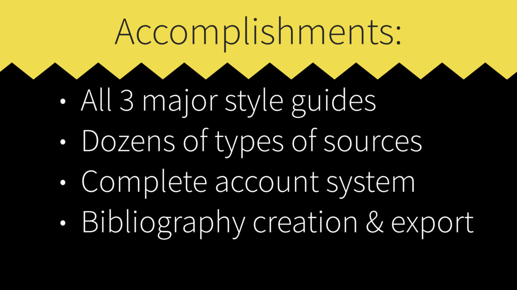 Accomplishments: • All 3 major style guides • D...