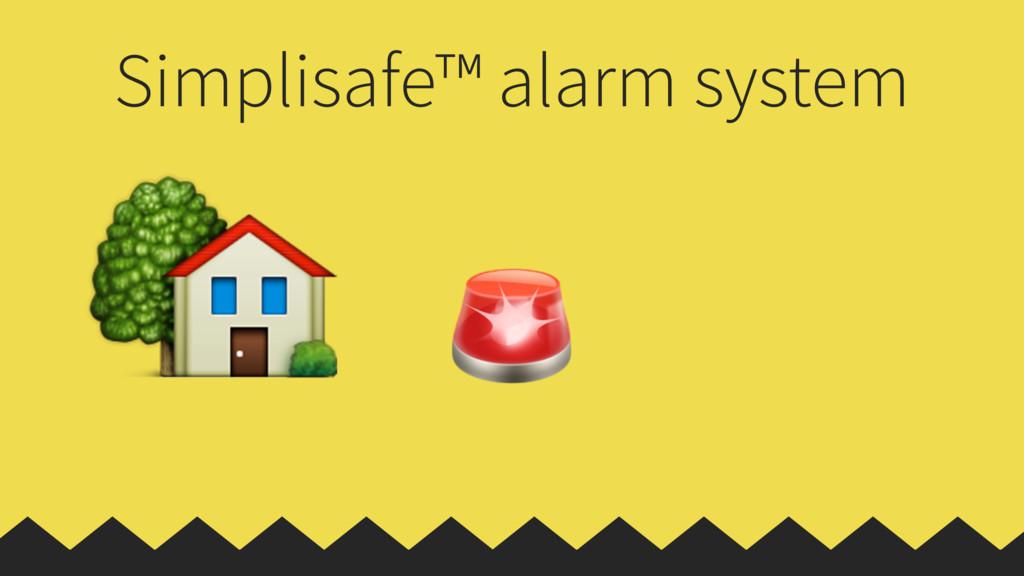 Simplisafe™ alarm system