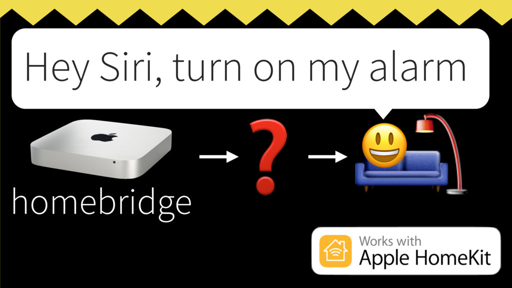 homebridge ❓   Hey Siri, turn on my alarm