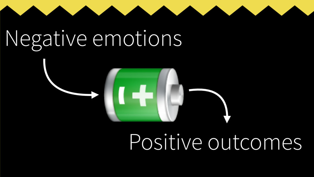 Negative emotions Positive outcomes