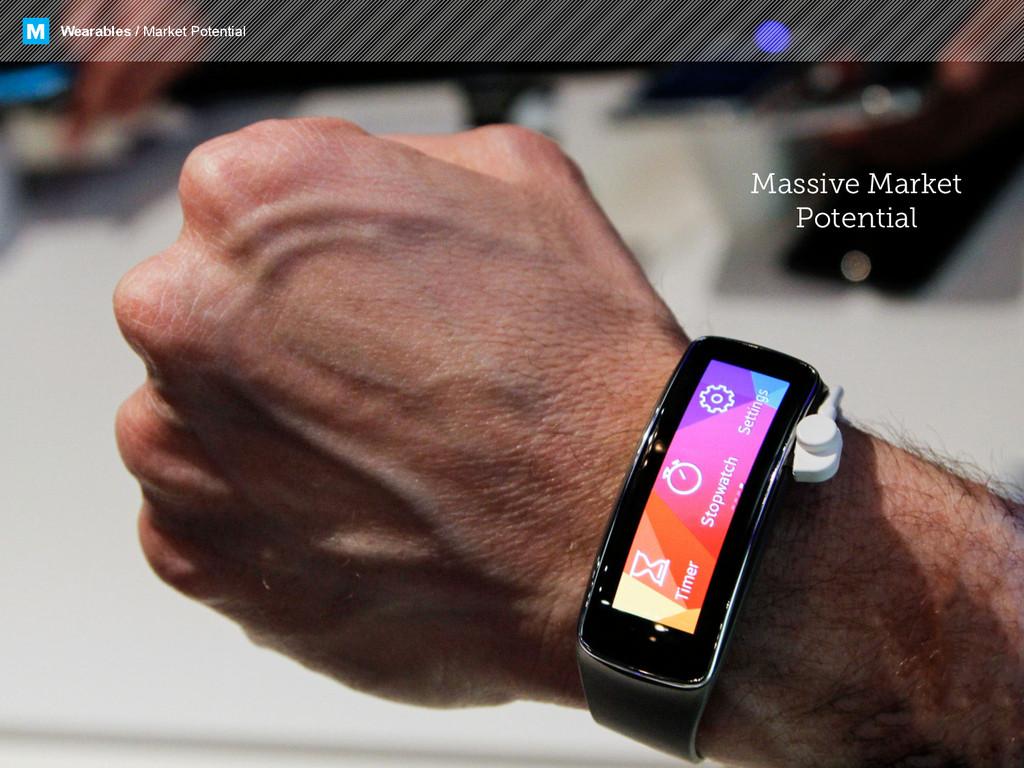 Wearables / Market Potential M Massive Market P...