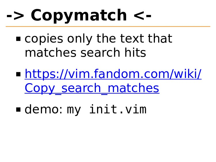 -> Copymatch <- copies only the text that match...