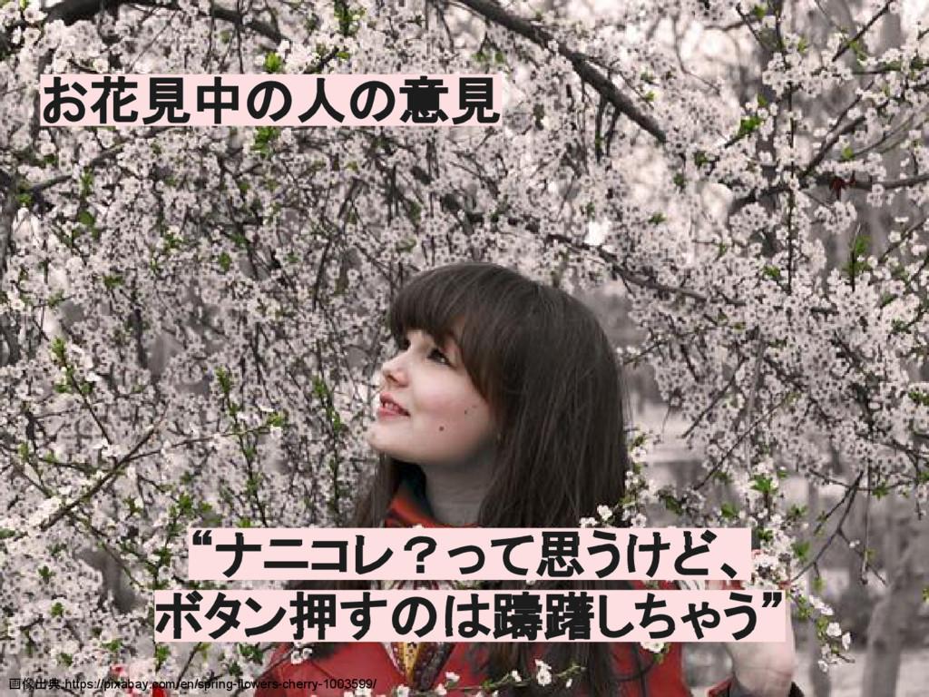 お花見中の人の意見 画像出典:https://pixabay.com/en/spring-fl...
