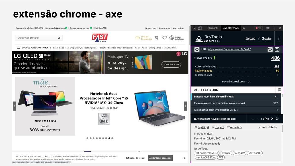 extensão chrome - axe